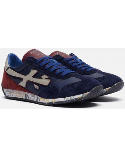 Синие кожаные кроссовки Premiata