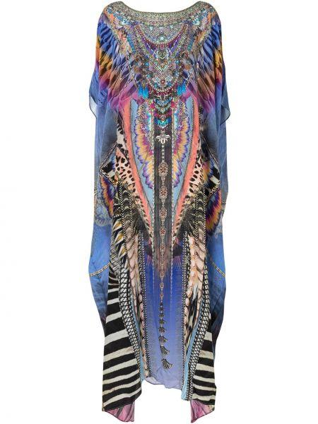 Шелковое платье - фиолетовое Camilla