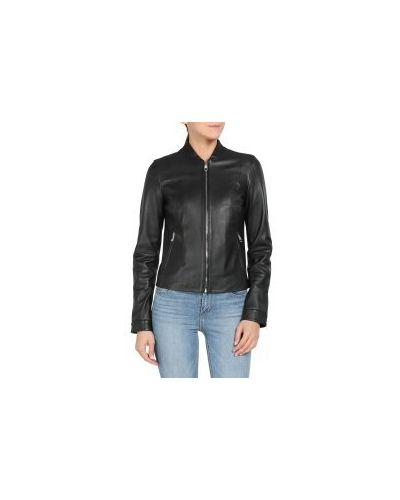 Кожаная куртка черная на молнии Tommy Hilfiger