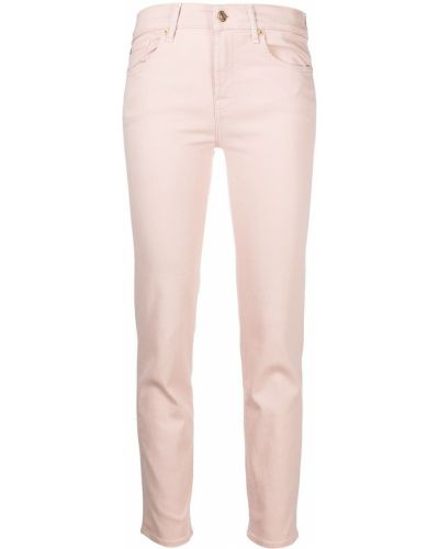 Хлопковые с завышенной талией джинсы-скинни на молнии 7 For All Mankind