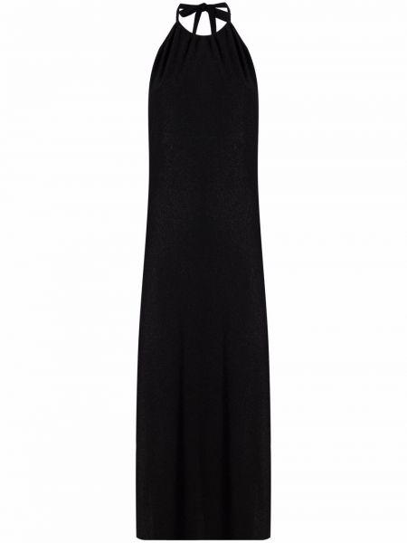 Открытое черное платье макси с открытой спиной Mc2 Saint Barth