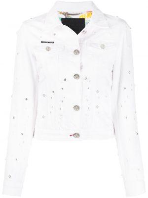 Хлопковая джинсовая куртка - белая Philipp Plein