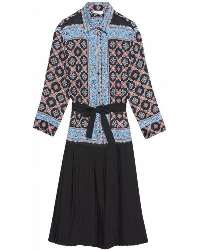 Платье миди восточное платье-рубашка Sandro