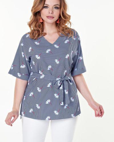 Блузка в полоску с поясом Valentina