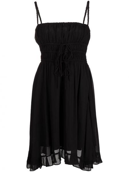 Платье на бретелях - черное Cynthia Rowley
