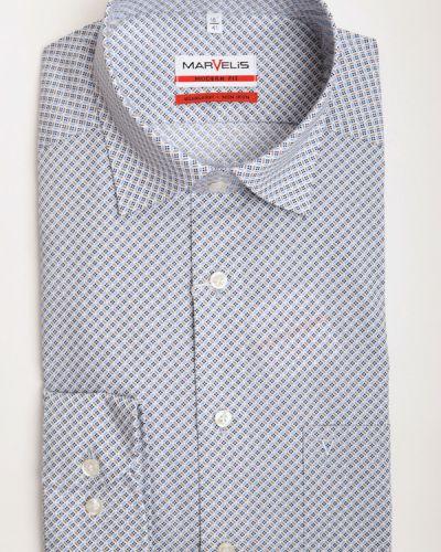 Хлопковая рубашка с длинным рукавом с воротником Marvelis