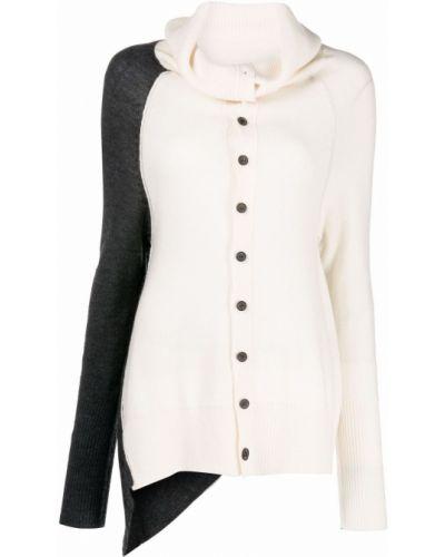 Biały sweter asymetryczny Ys