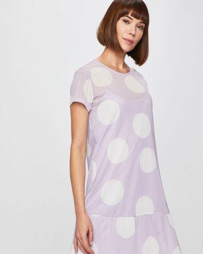 Платье мини прямое с оборками Review