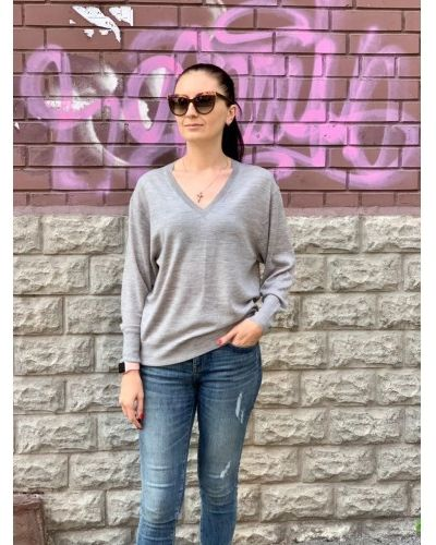 Шерстяной свитер - серый Uniqlo