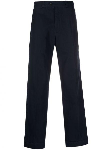 Синие деловые прямые брюки с высокой посадкой новогодние Pt01
