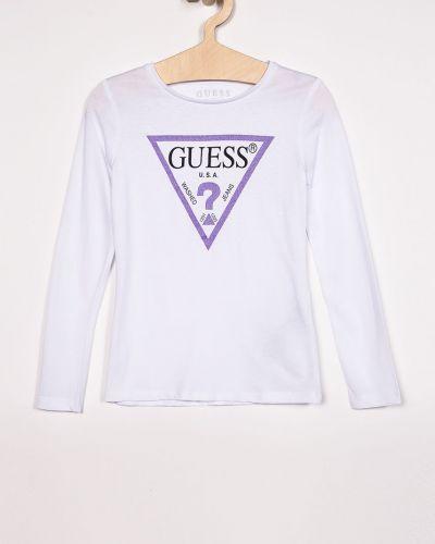 Блуза с принтом с вырезом Guess Jeans