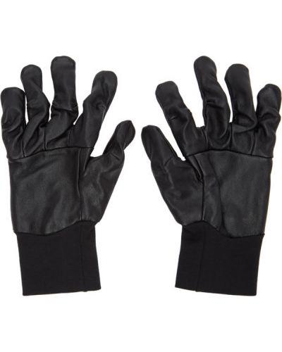 Bawełna czarny rękawiczki prążkowany z mankietami The Viridi-anne