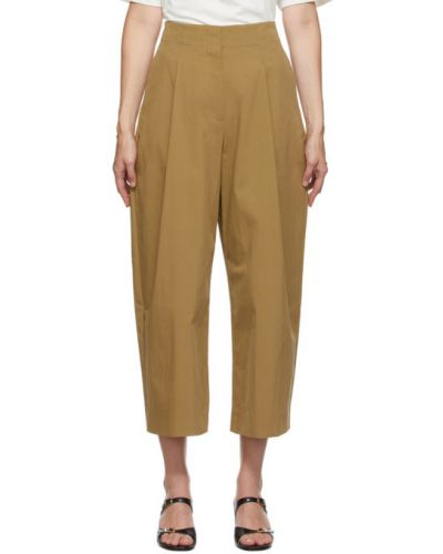 Брючные коричневые брюки с карманами свободного кроя Studio Nicholson