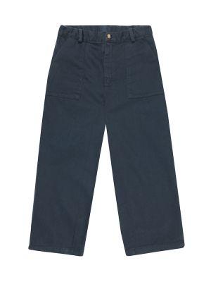 Bawełna bawełna niebieski spodnie na uroczystość Morley