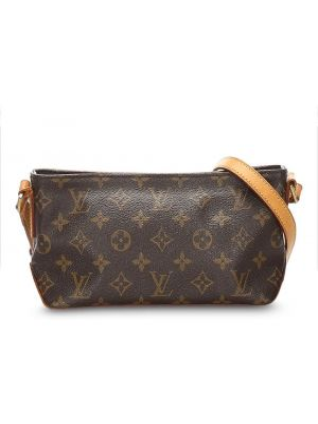 Кожаная сумка с леопардовым принтом из канваса Louis Vuitton