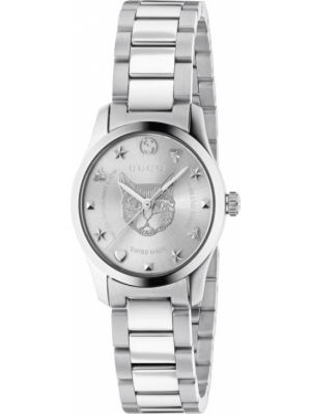 Серые кварцевые часы Gucci