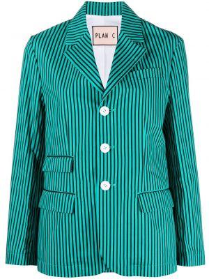 Черный удлиненный пиджак с карманами с нашивками Plan C