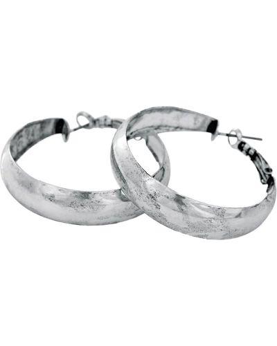 Серебряные серьги-кольца Honey