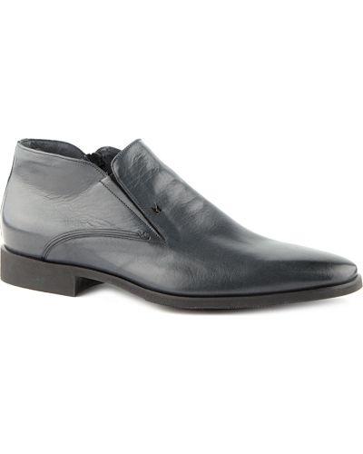 Кожаные ботинки - синие Moreschi