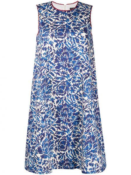 Синее платье без рукавов с вырезом круглое Weekend Max Mara