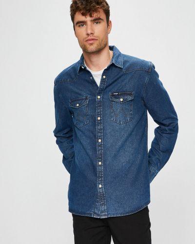Джинсовая рубашка однотонная с длинным рукавом Wrangler
