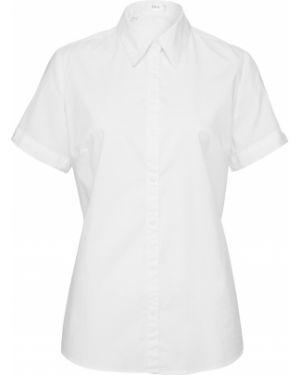 Блузка с коротким рукавом с воротником-стойкой приталенная Bonprix