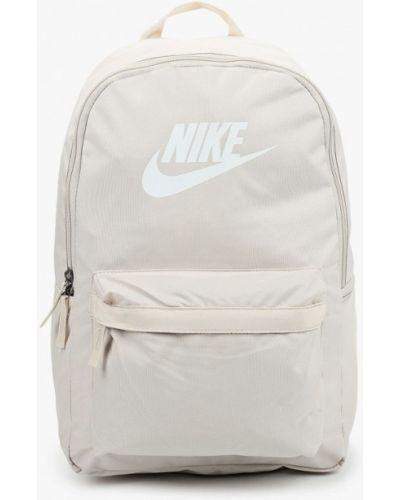 Текстильный бежевый рюкзак Nike