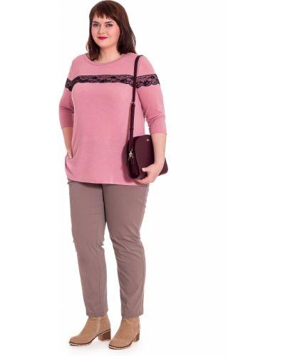 Блузка кружевная розовая Lacy_plus