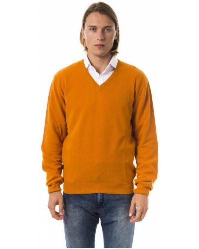 Długi sweter z dekoltem w serek z długimi rękawami Byblos