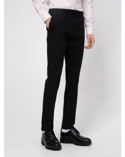 Czarne spodnie materiałowe Hugo