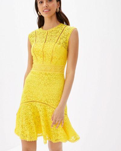 Платье прямое желтый Karen Millen