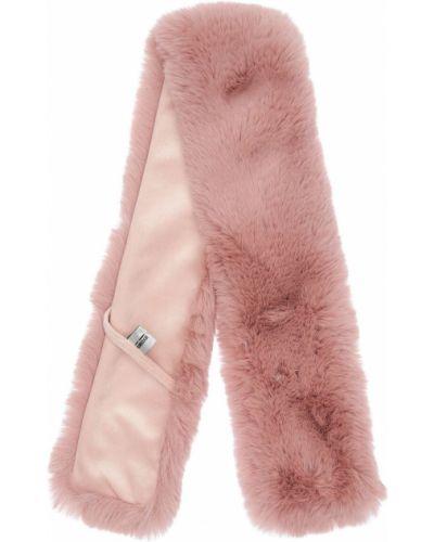Różowy szalik sztuczne futro Bomboogie