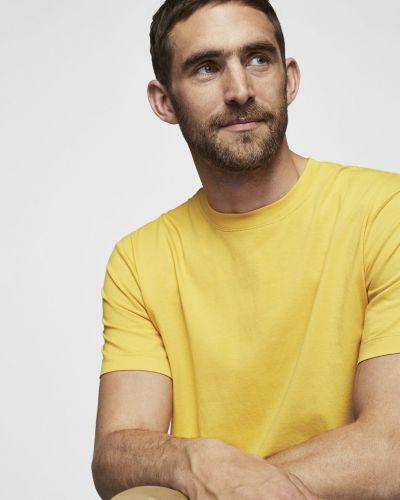 Желтая футболка однотонная Mango Man