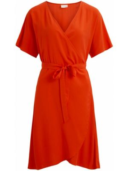 Платье миди мини с V-образным вырезом Vila