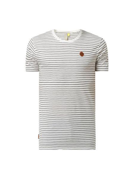 Biały t-shirt w paski bawełniany Alife And Kickin