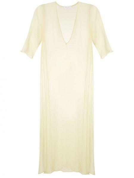 Платье мини миди с V-образным вырезом Brigitte