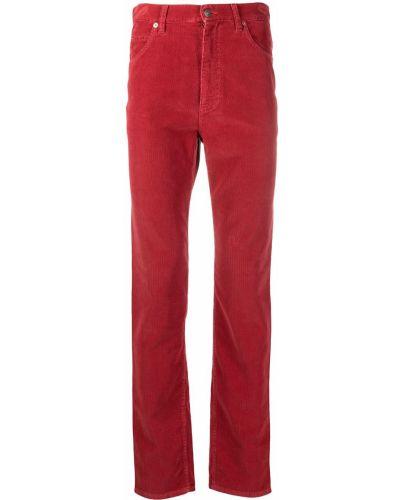Klasyczne spodnie klasyczne skorzane z paskiem Gucci