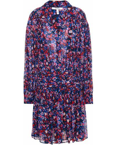 Плиссированное платье мини с подкладкой из вискозы Derek Lam 10 Crosby