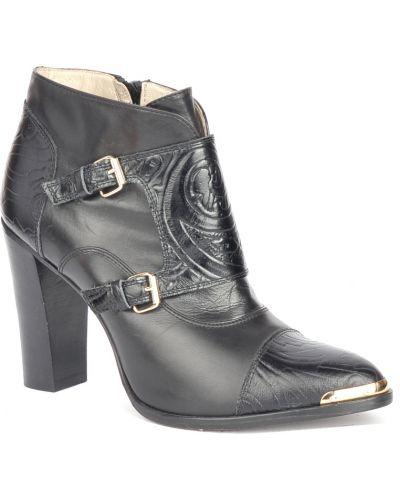 Черные кожаные ботинки Etro