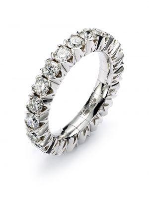 Biały złoty pierścionek z diamentem Mattioli