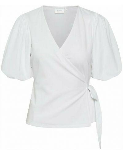 Biała bluzka kopertowa Gestuz