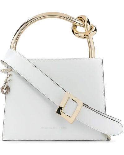 Biała torba na ramię skórzana Benedetta Bruzziches