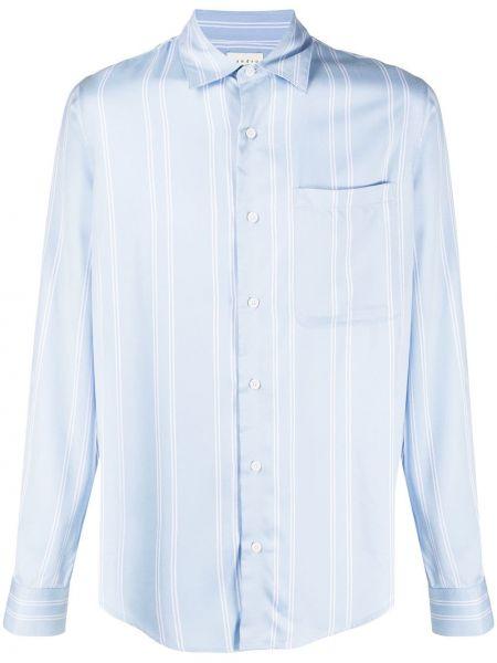 Koszula z długim rękawem z kieszeniami niebieski Sandro Paris