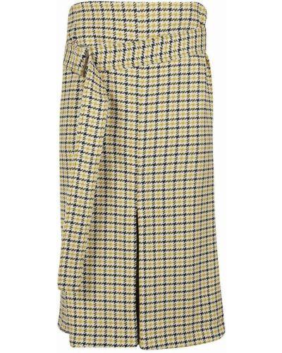 Spódnica wełniana - żółta Victoria Beckham