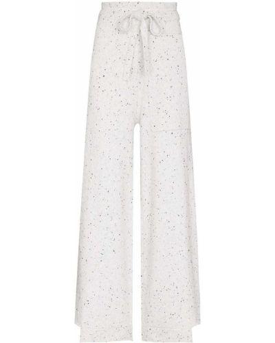 Białe spodnie wełniane Tibi