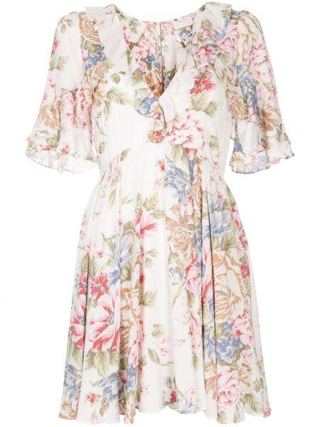 Платье мини короткое - белое Auguste