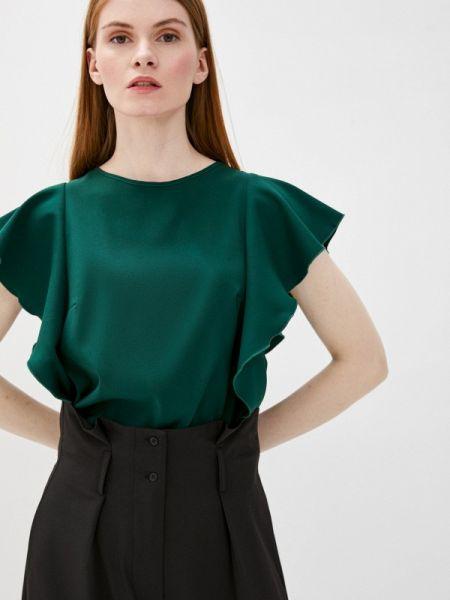 Зеленая блузка с коротким рукавом снежная королева