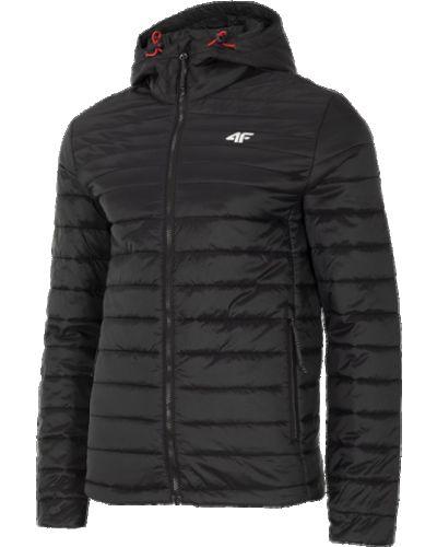 Czarna kurtka z kapturem 4f