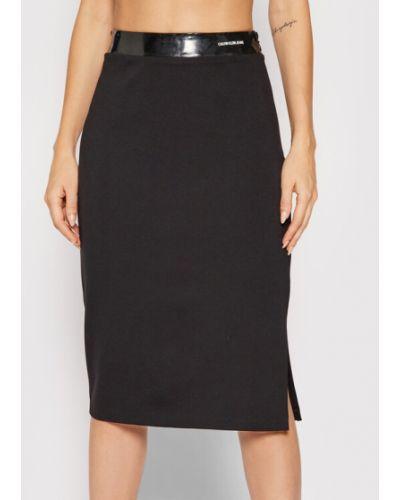 Spódnica ołówkowa - czarna Calvin Klein Jeans