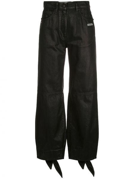 Белые свободные джинсы бойфренды с карманами на пуговицах Off-white